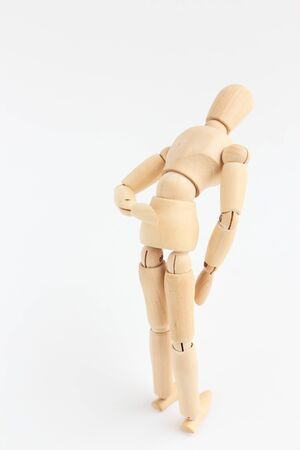 Wooden man toy Stock Photo