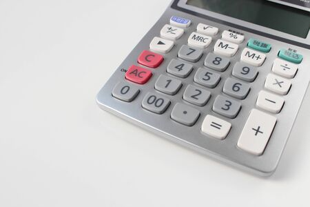 teclado num�rico: Calculadora en el fondo blanco
