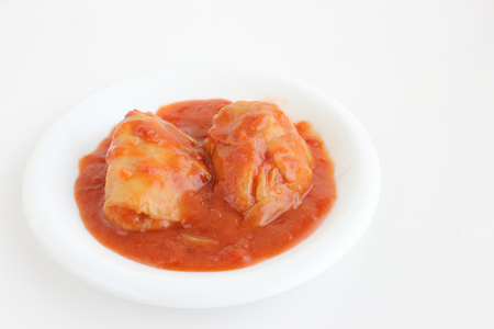 meaty: cabbage roll Stock Photo