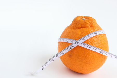 A orange and tape measure