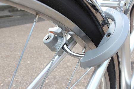 自転車の鍵 写真素材