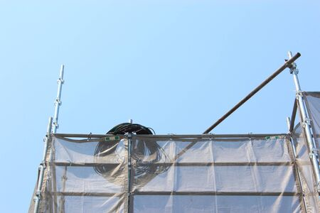 Housing construction scaffolding