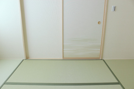 Japanese style room of newly built housing Stockfoto
