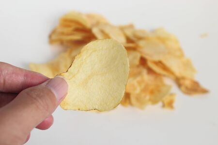 Lots of potato chips