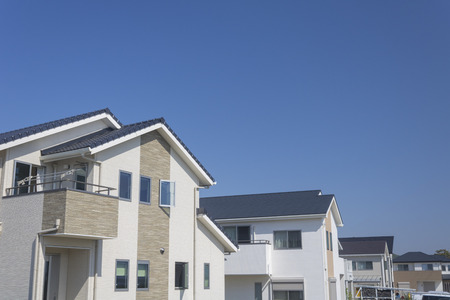 Blue sky and landscape of newly built residential area 版權商用圖片