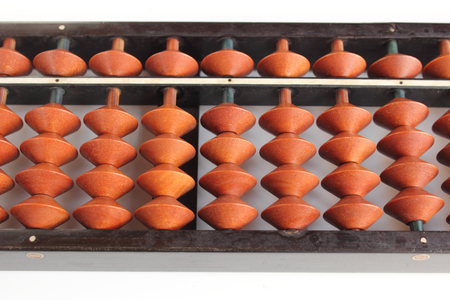 Picture of an old abacus