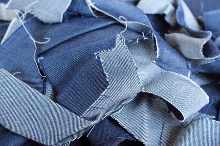 Blue cloth garbage