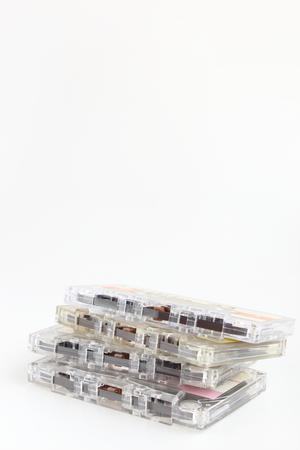Multiple cassette tapes 版權商用圖片