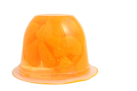 Jelly with mandarin orange Stock Photo