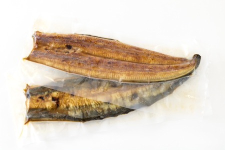 Frozen glazed grilled eel