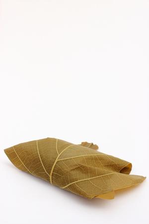 oak leaf rice cake Stock Photo