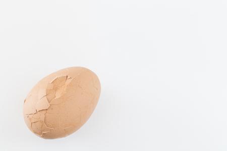 Cracked boiled eggs