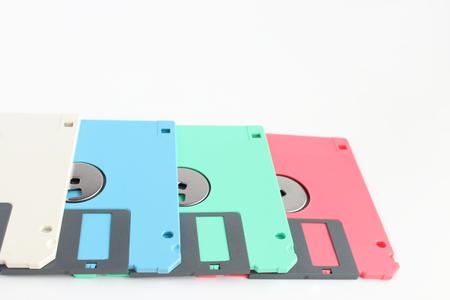 Lots of floppy disks 写真素材