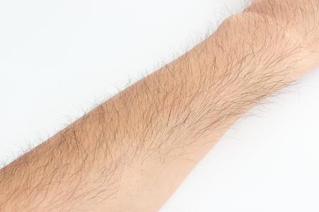 Hairy mans arm