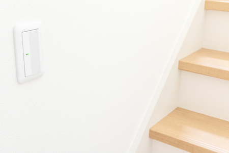Switch of the lighting of the newly built housing staircase