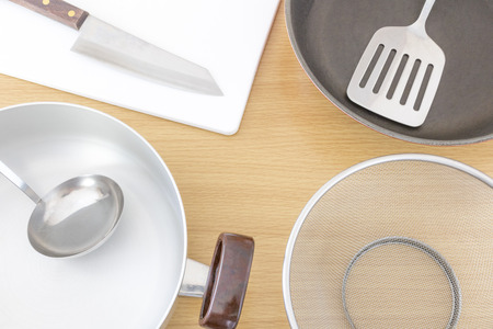 Cooking utensils and tables