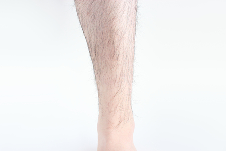 Hairy mans foot