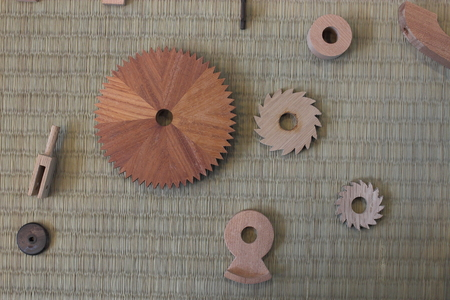 Wooden mechanical parts
