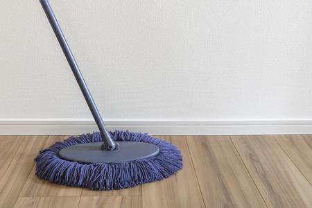 Mop and flooring Foto de archivo