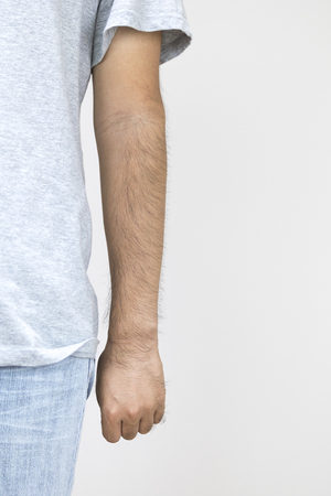 Hairy male arm