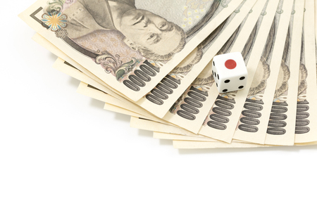 Japanese money and dice