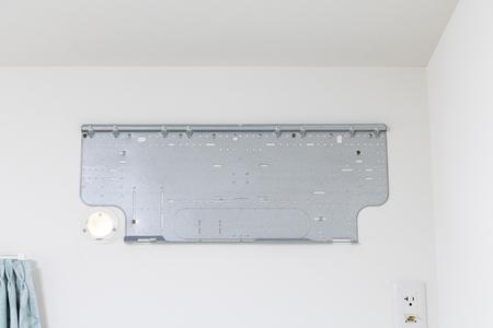 Installation work of air conditioner Imagens