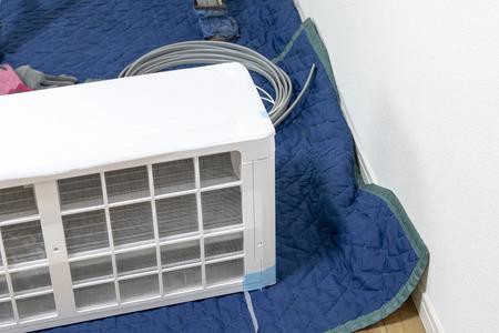 Floor at air conditioner installation work
