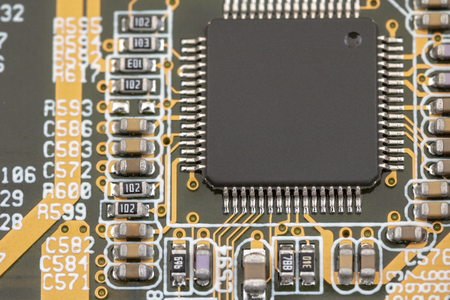 Close up of electric board