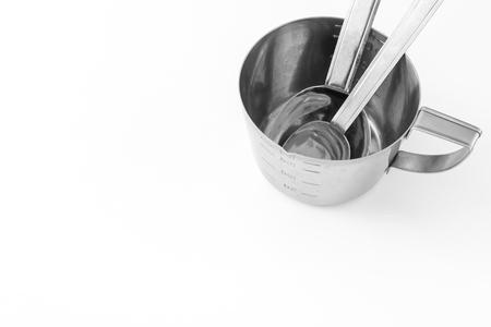 Metal measuring cup Imagens