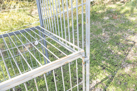 Cage of traps for wild animals 写真素材