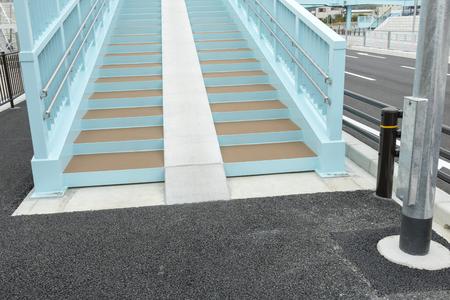 Stairs of a pedestrian overpass