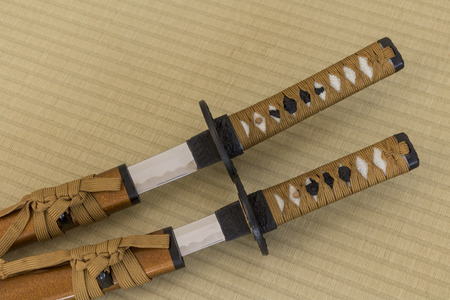 Japanese sword replica Stock Photo