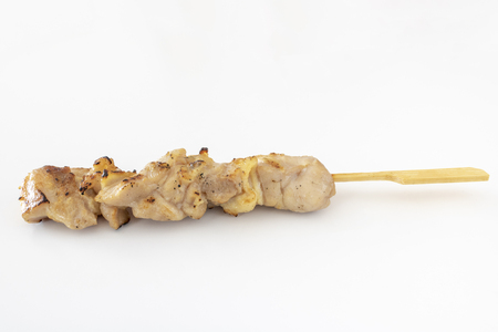 Japanese style skewered chicken Stock Photo