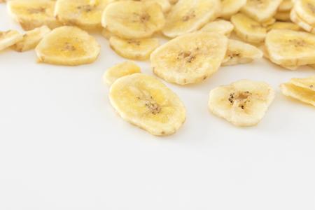Many banana chips Imagens