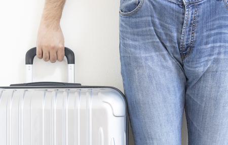 Men with a suitcase