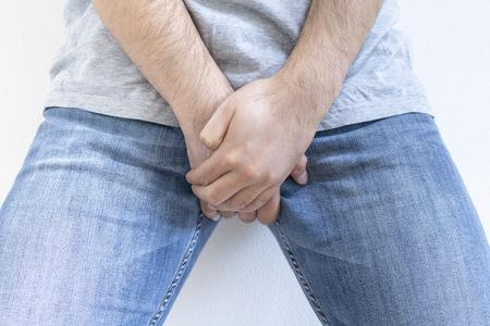 Men who hold the crotch Banco de Imagens