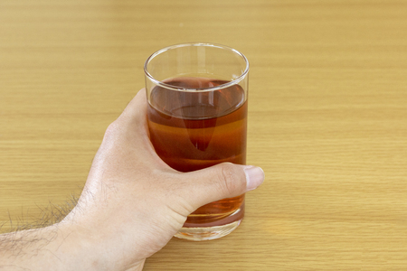 Tea in a glass cup