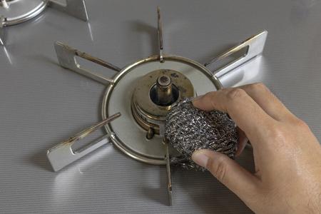 It is a stainless steel scrub Stock fotó