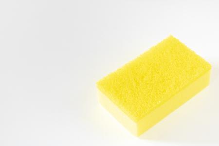 Cube sponge scour isolated on white