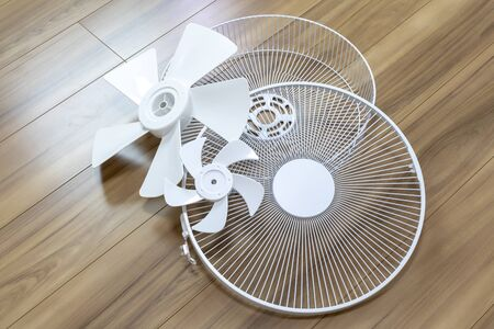 Fan in the middle of disassembly Stock Photo