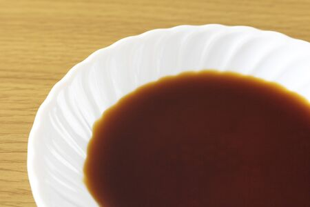 Soy sauce in a small dish 写真素材