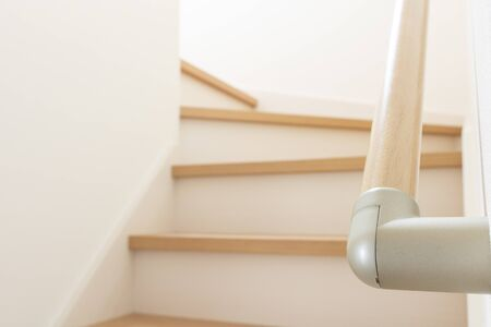 Stair railing in a new house