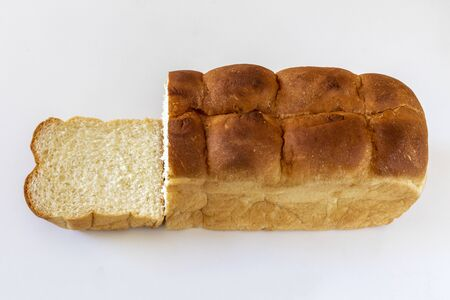 A loaf of bread after cutting