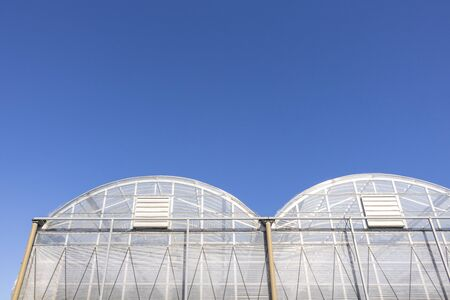 Greenhouse under the blue sky