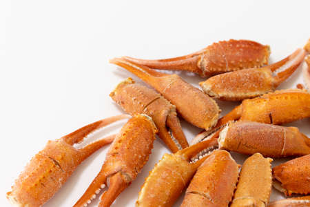 Many snow crab legs frozen after cooking