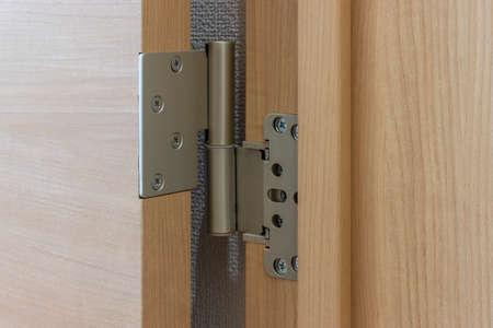 Close-up of swing door hinge Reklamní fotografie