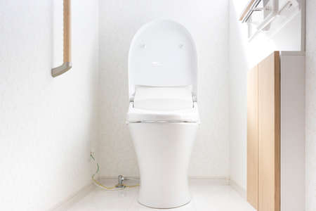Western-style toilet in a new house