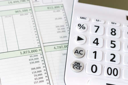 Quotation and calculator, business image