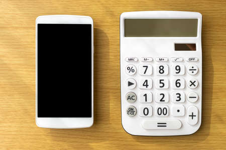 Calculator and smartphone, communication cost image