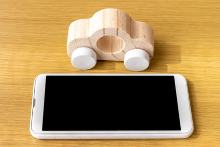 Image of searching for a car on a smartphone